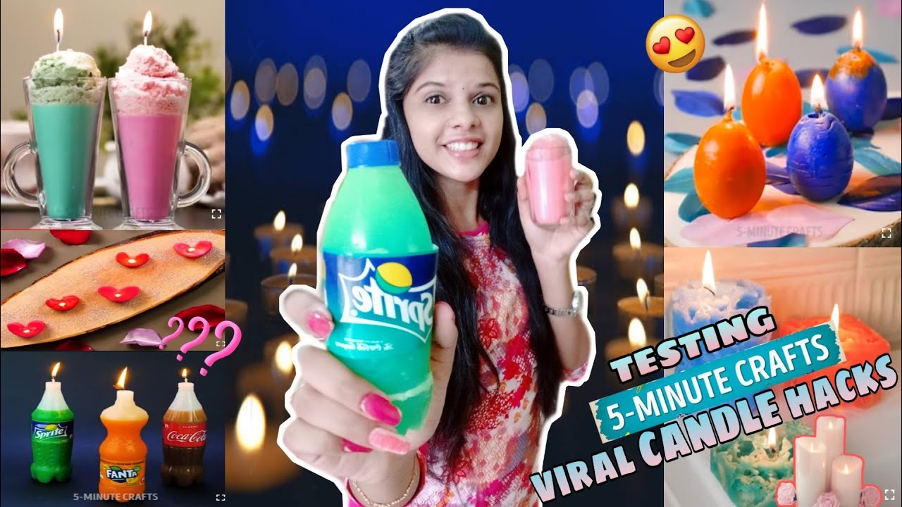 TESTING OUT VIRAL CANDLE HACKS by 5 minute crafts [TAMIL]
