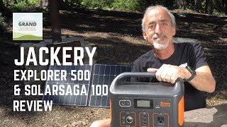 Ep. 115: Jackery Explorer 500 & SolarSaga 100 Lithium Power Station Review | RV camping gear