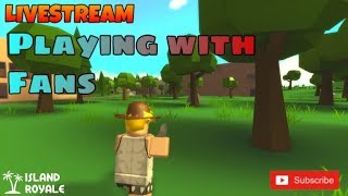 PLAYING ISLAND ROYALE WITH FANS! (ROBLOX) !commands