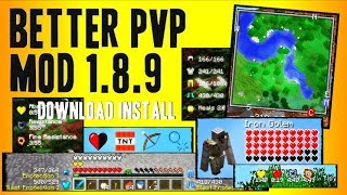 BETTER PvP MOD 1.8.9 minecraft - how to download and install better PvP mod 1.8.9 (with forge)