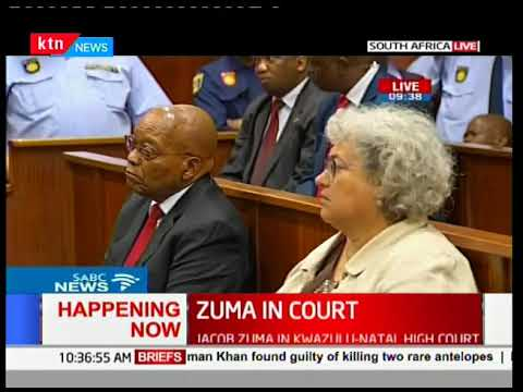 Former South African President in Court facing 16 corruption charges