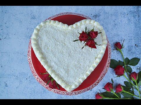 Serce Raffaello - Tort Z Kremem Raffaello Na śnieżce - Przepis
