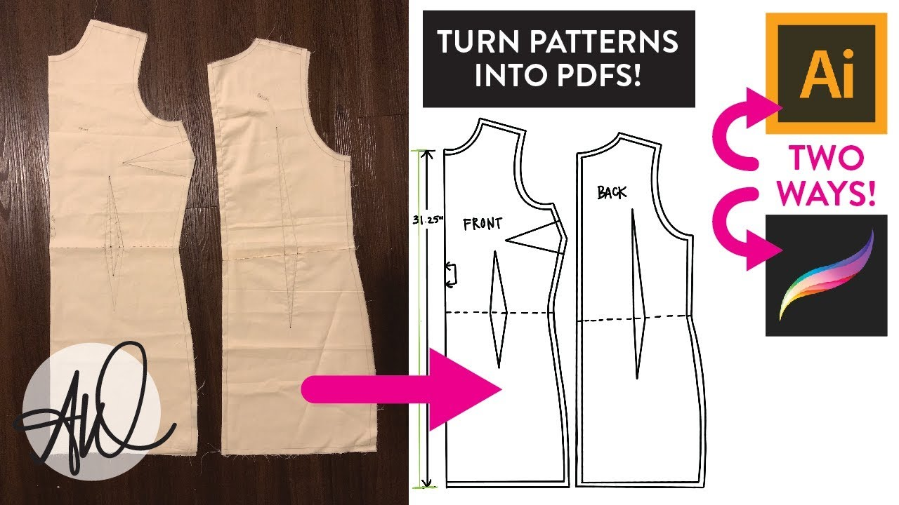 How To Create Pdf Patterns Two Ways Illustrator And Procreate Ipad Youtube