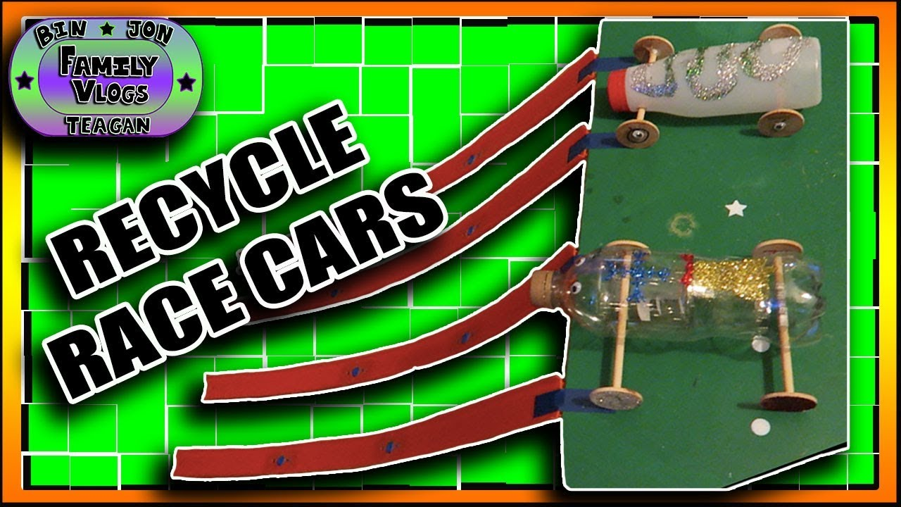 Homemade Recycle Race Cars! Kids Crafts