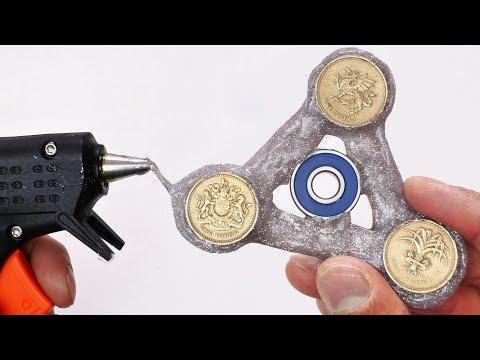 DIY Fidget Spinner and Coin Holder - Hot Glue Gun