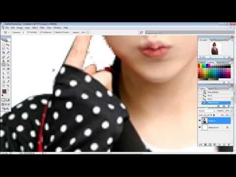 [How2] วิธีตัดพื้นหลังง่ายๆ 3 แบบ photoshop Cs2