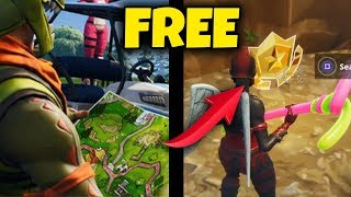 Fortnite S5 Week 1 - FREE BATTLE PASS STAR LOCATION!