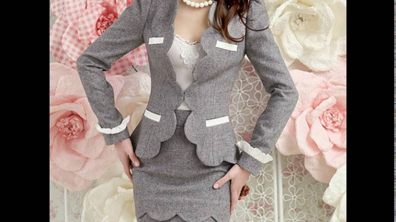 985b3bd85e Exclusivos diseños en trajes para dama - YouTube