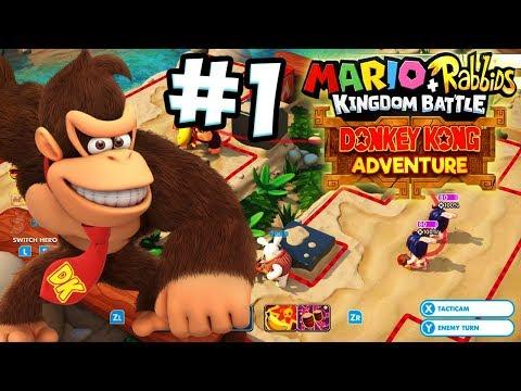 ABM: Mario+Rabbids Kingdom Battle !! Donkey Kong Adventure !! Walkthrough # 1 HD