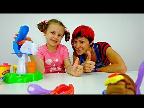 Видео для детей: мороженое из Play Doh!
