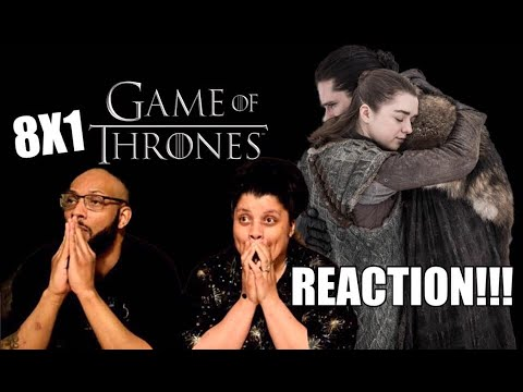 Game of Thrones S8 E1 'Winterfell' - REACTION!!!