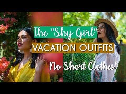 "The ""Shy Girl"" Vacation Outfits! | NO Short Clothes! | Komal Pandey"