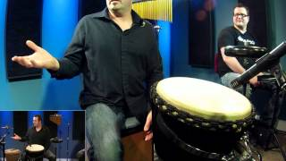 Hand Drumming Djembe/Cajon - Free Drum Lessons(FREE Series: De-Stupefying Your Weak Hand - http://drumeo.com/destupefy . Being a drummer does not limit you to only playing behind a kit. In this Drumeo ..., 2012-06-06T17:11:59.000Z)