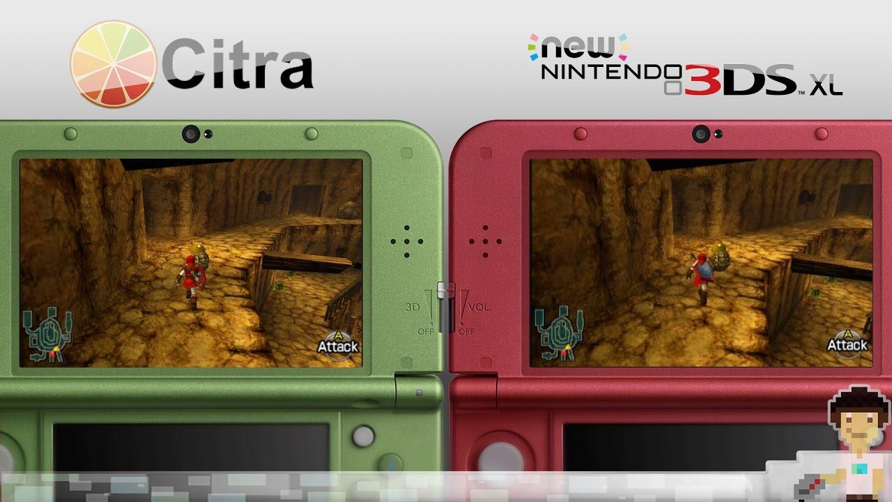 Citra 3DS Emulator(1080p) VS New 3DS - Legend of Zelda Ocarina of Time 3D |  Head to Head Comparison