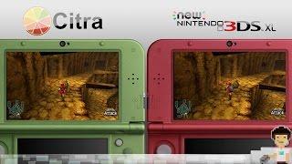 Citra 3DS Emulator 1080p VS New 3DS Legend Of Zelda Ocarina Of Time 3D Head To Head Comparison