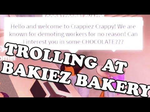 Trolling At Bakiez Bakery Cafe As A Cashier Roblox Trolling