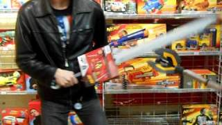 Nerf Weapons in Toys R Us