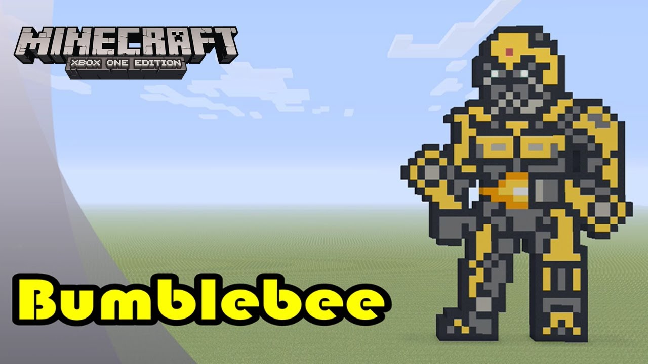 Minecraft Pixel Art Tutorial And Showcase Bumblebee Transformers