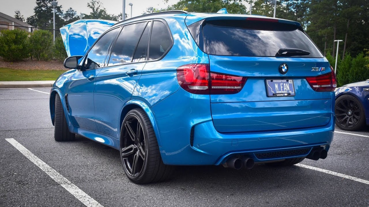 BMW F85 X5M with Dinan exhaust