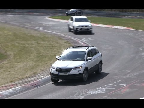 Le futur SUV Skoda Karoq au Nürburgring