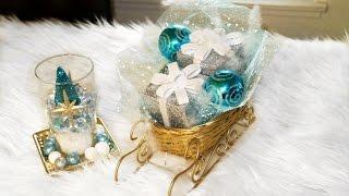 CHRISTMAS DECOR DIY IDEAS  TUTORIAL  DOLLAR TREE FRIENDLY
