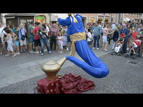 Genie Magic Lamp Levitation |  Street Performers
