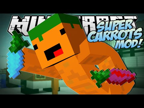 Thumbnail: Minecraft | SUPER CARROTS MOD (Sir Carrot is BACK!!) | Mod Showcase
