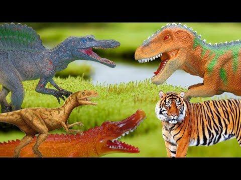 Мир динозавров. СБОРНИК МУЛЬТИКОВ: ТИРАННОЗАВРЫ, СПИНОЗАВРЫ, САРКОЗУХИ и другие динозавры