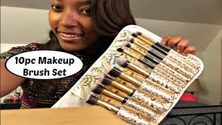 Affordable 10pc Makeup Brush Set Review