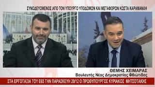 O Θέμης Χειμάρας στο κεντρικό δελτίο του Ena tv. 19.12.19
