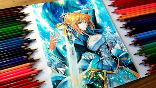 Drawing - Saber Arturia Pendragon (Fate/Stay Night)