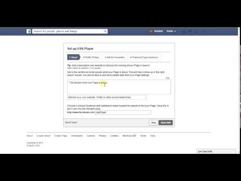 how to create a facebook fan page for business