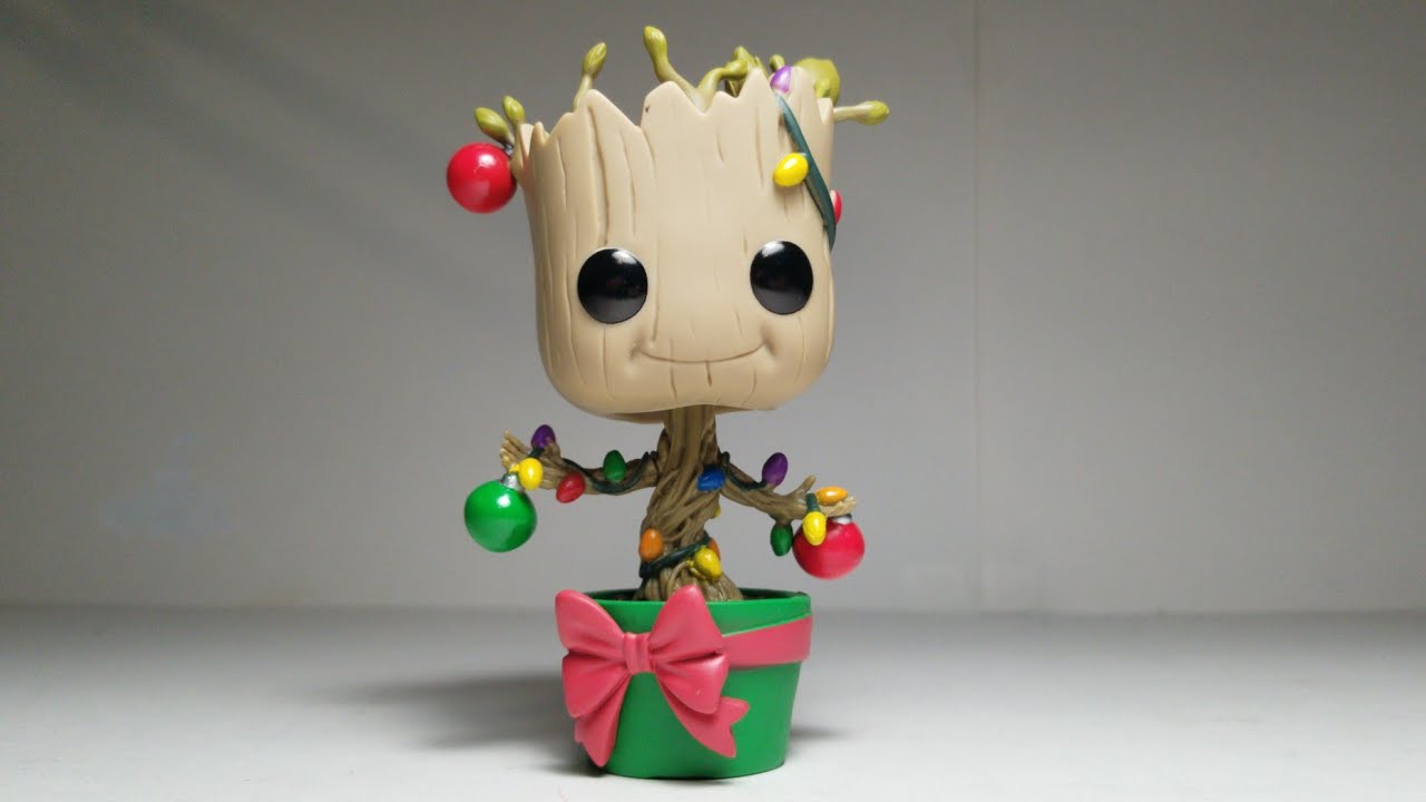 Christmas Groot Funko Pop.4k Marvel Funko Pop 399 Holiday Special Groot With Lights From Guardians Of The Galaxy