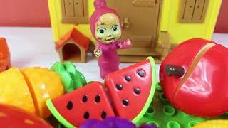 Masha'nın Meyve Arabası Maşa ile Koca Ayı Acı Biber Yiyorlar Masha Koca Ayı Çizgi Film