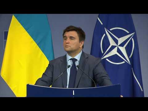 NATO - Ukrainian Minister of Foreign Affairs Pavlo Klimkin Press Conference