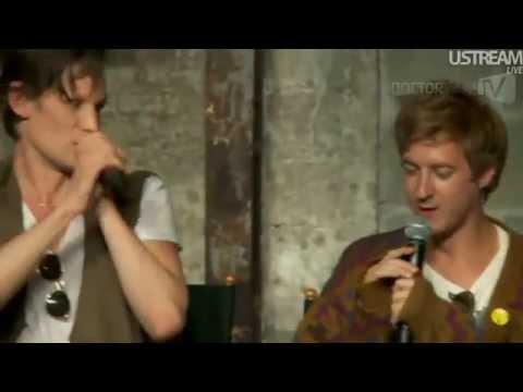 TARDIS trio sing Bohemian Rhapsody Smith, Gillan, Darvill Comic Con 2012