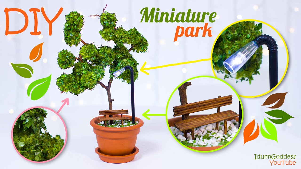 Diy Miniature Park In A Flower Pot How To Make Miniature
