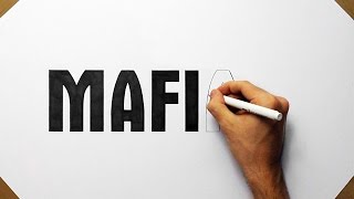 How To Draw MAFIA 2 Logo - Speed Art Drawing