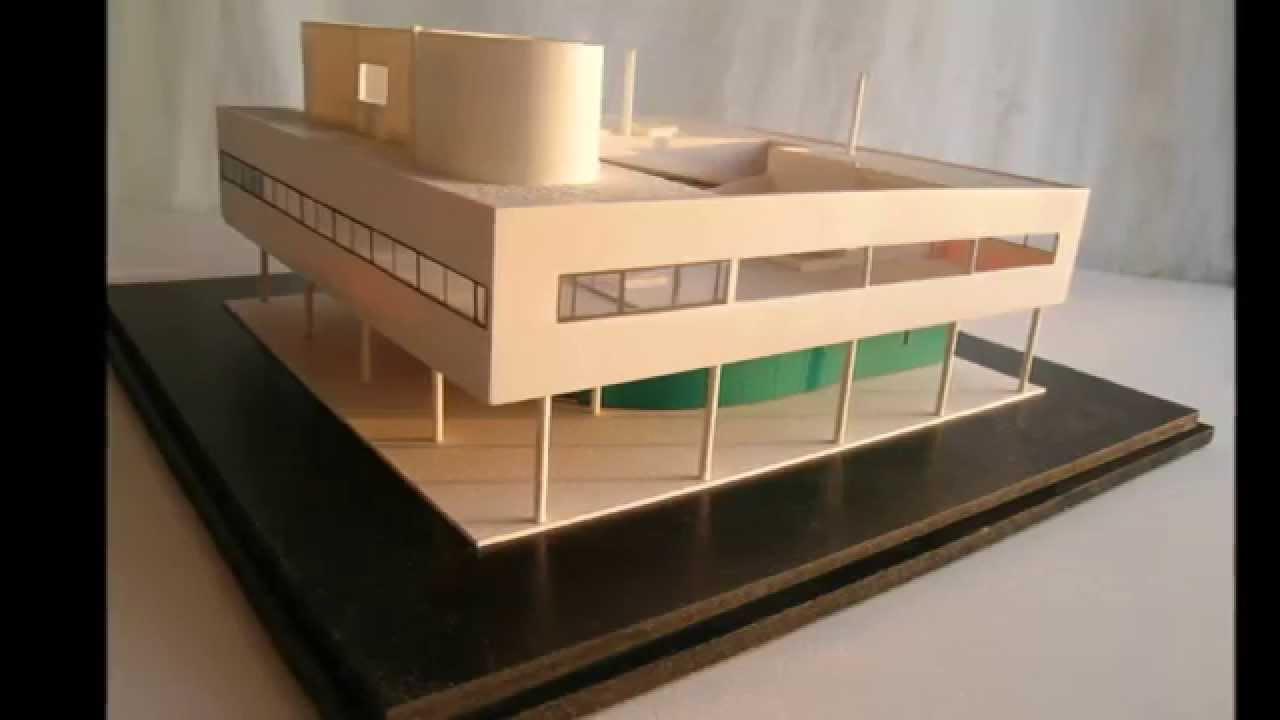 Villa Savoye By Le Corbusier 1 100 Scale Model Youtube
