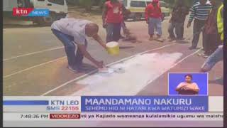 Mbunge wa Nakuru Town East David Gikaria afunga barabara kuu la Nakuru-Nairobi