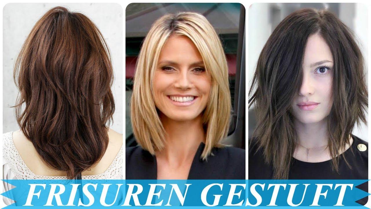 Schöne Frisuren Schulterlang Gestuft YouTube