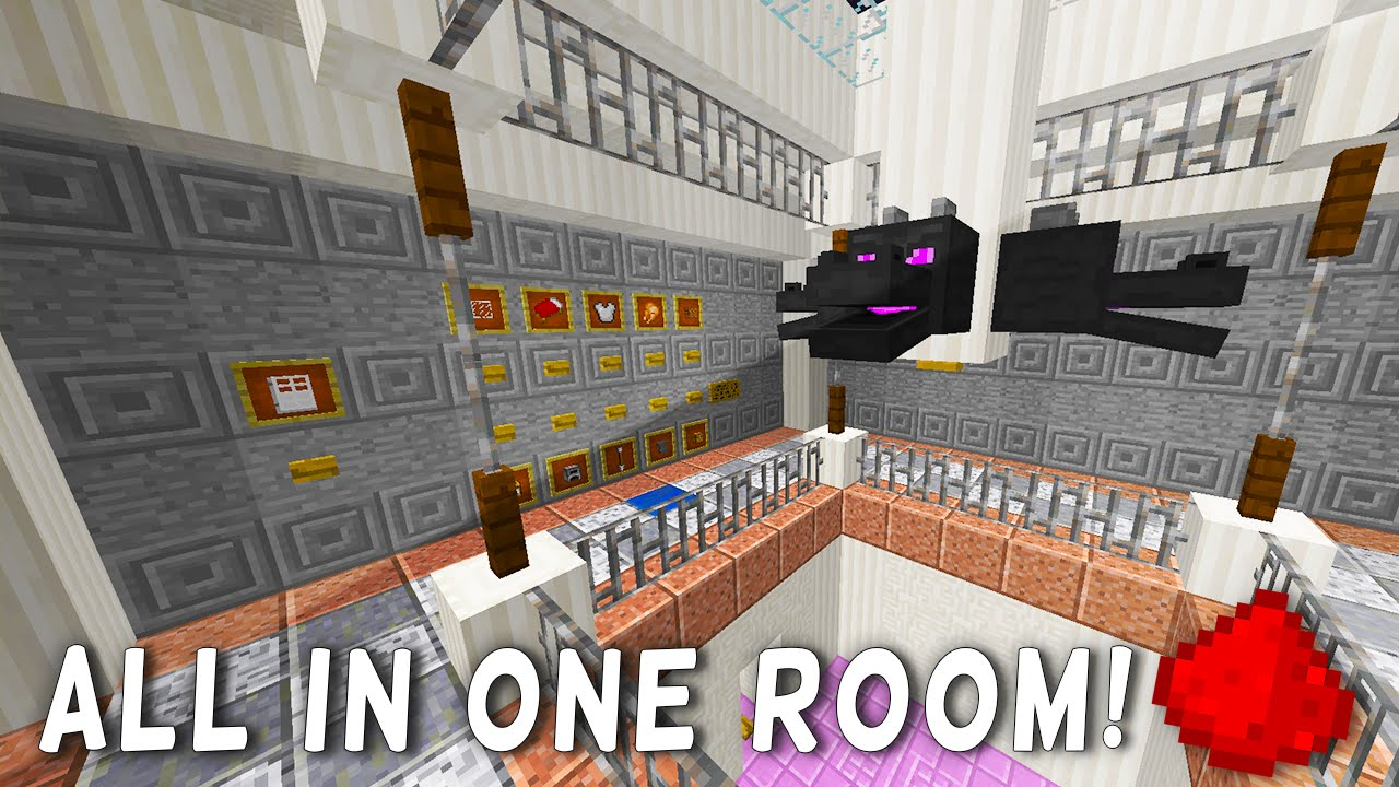 All In One Room most compact redstone house (20+ redstone creations in one room