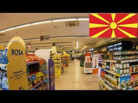 Exploring VERO supermarket in Macedonia with an Englishman!
