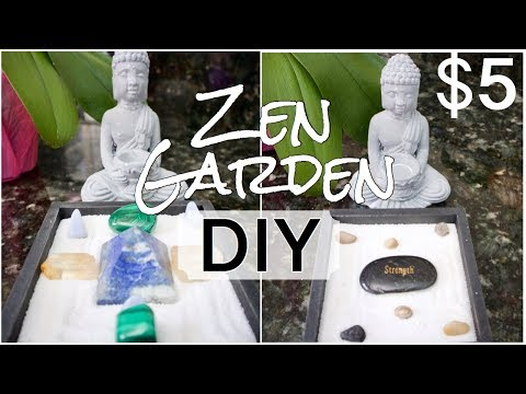Dollar Tree DIY 2019 🌟 How to Make a Miniature Zen Garden 🌿 Crystal Grid Display