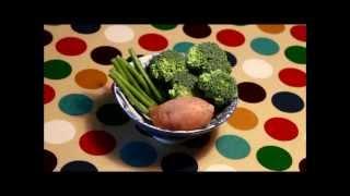 Squeasy Bites || Sweet Potato, Broccoli And Green Bean Puree Recipe