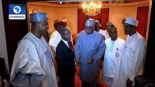 Saraki, Dogara Others Meet With President Buhari