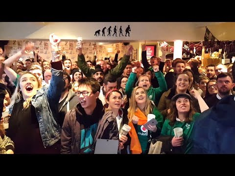 Irish Rugby Fans Celebrate Six Nations Grand Slam