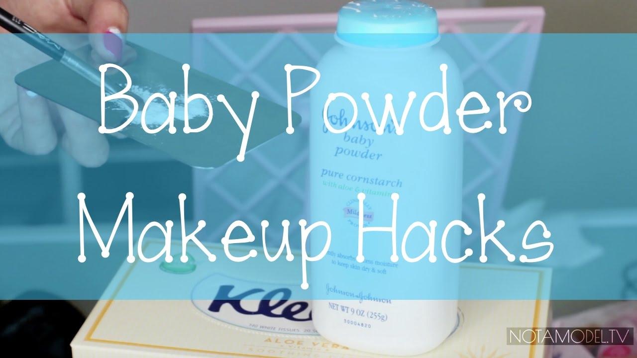 Beauty hacks  12 Amazing makeup tips using baby powder