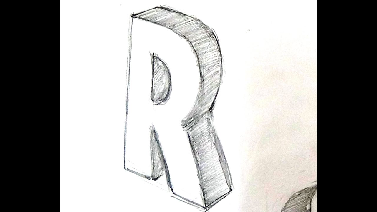 How to write a 3d letter r youtube how to write a 3d letter r altavistaventures Gallery