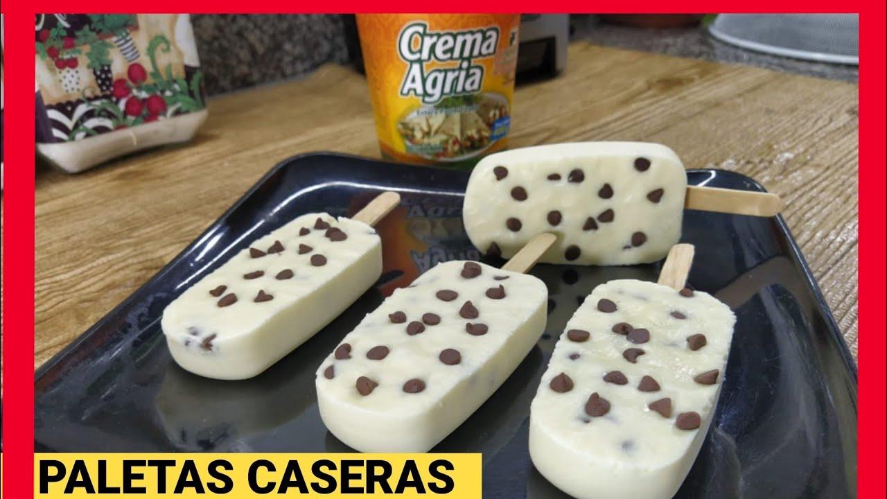 COMO HACER HELADOS / CREMA AGRIA / DELICIOSOS HELADOS Caseros  CREMOSOS